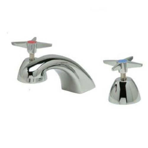 Zurn Aquaspec Widespread Faucet With 5 In. Cast Spout, Four-Arm Handles, Polished Chrome Plated, Lead Free