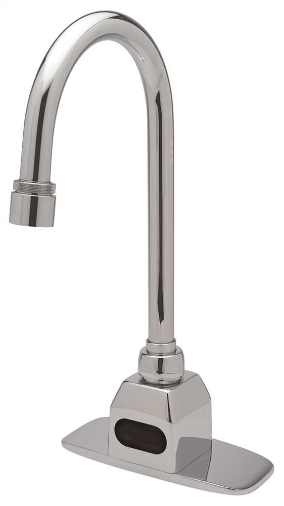 ZURN AQUASENSE� BATTERY OPERATED SENSOR FAUCET WITH GOOSENECK SPOUT, LEAD FREE