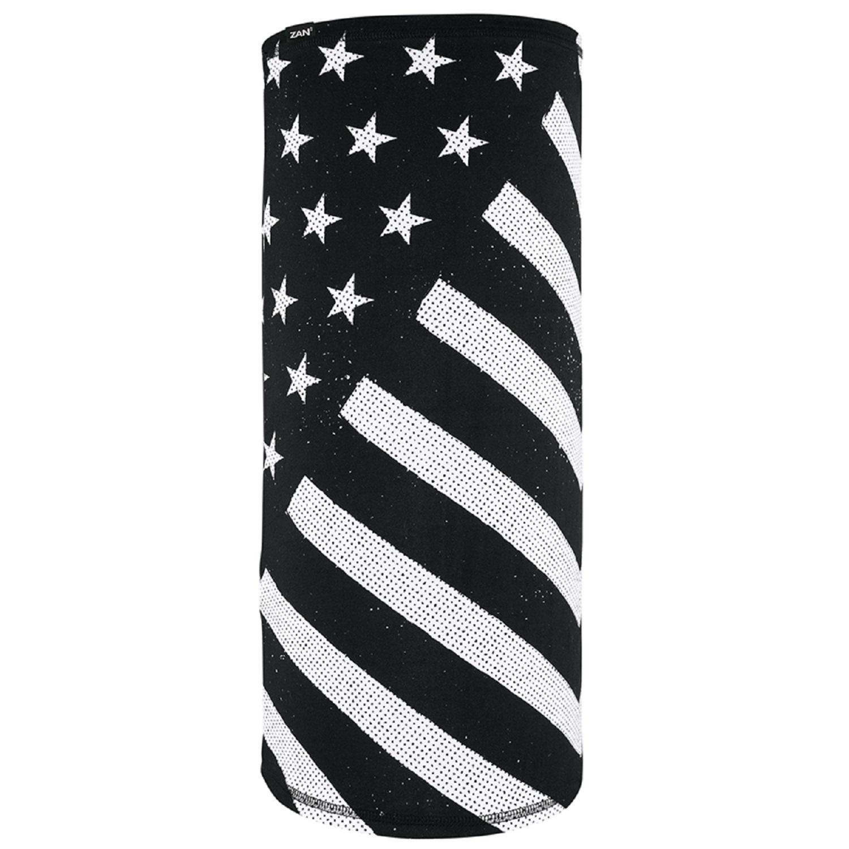 ZanHeadgear Sportflex Motley Tube Black and White Flag