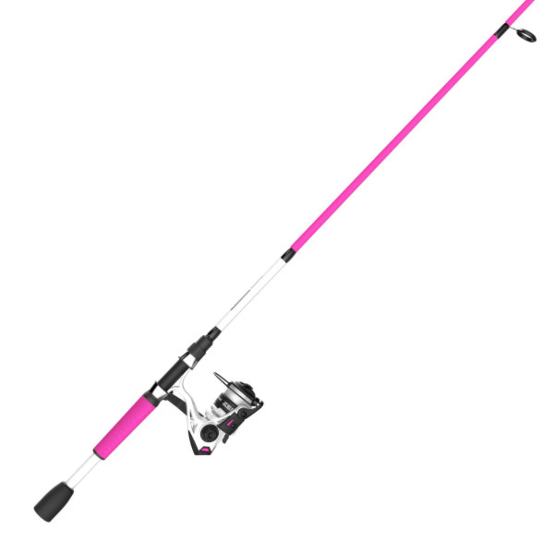 Zebco Roam Pink 30SZ 662M Spin Combo 10LB Zebco Cajun Line