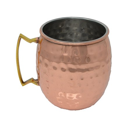 16 oz Copper Clad Moscow Mule Mug - Hammered