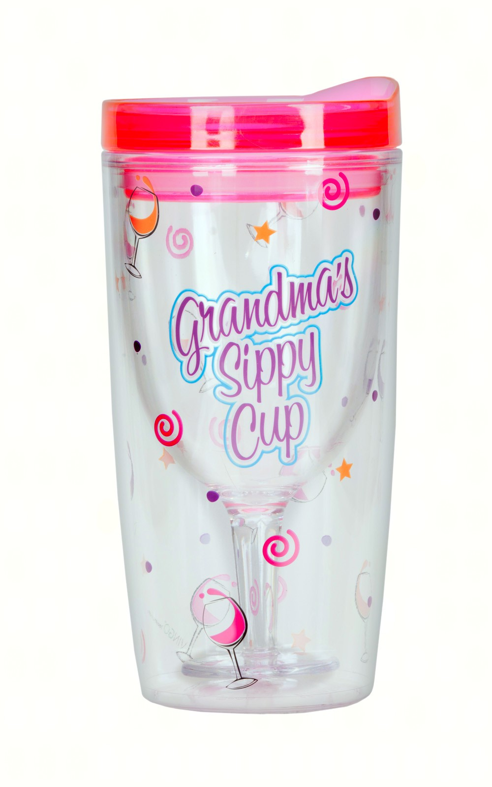 Grandma's Sippy Cup Insulated Wine Tumbler 10 oz