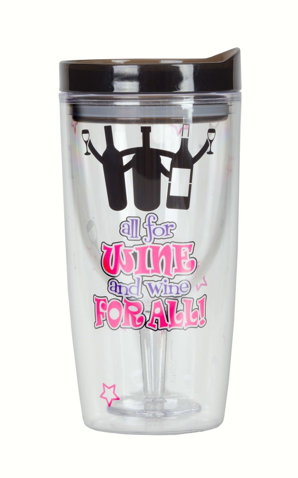 All for Wine and Wine for All! Insulated Wine Tumbler 10 oz