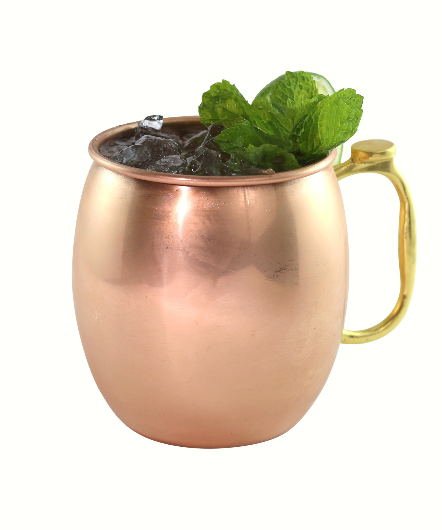 Moscow Mule Copper Mug with Brass Handle/Thumb Rest 30 oz (Style: Smooth)