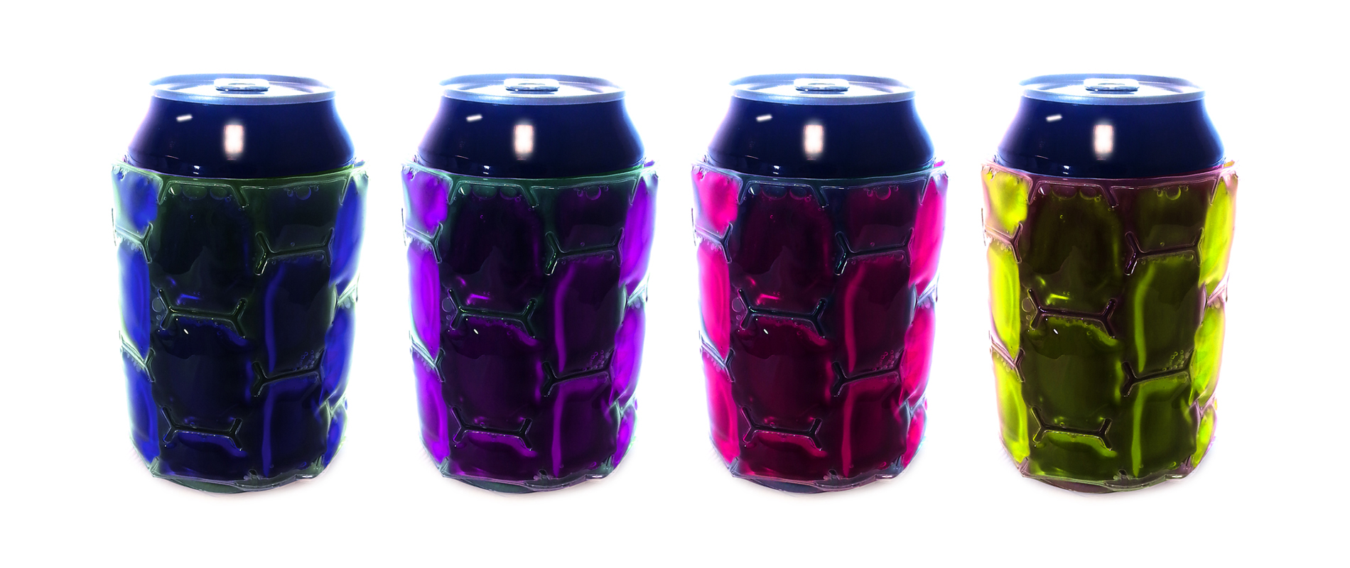 Can Cooler Assortment 2: Purple, Lime, Blue, Pink