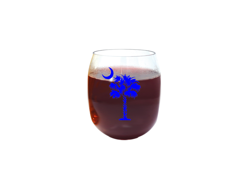 Blue Palmetto Tree Ever Drinkware Wine Tumbler