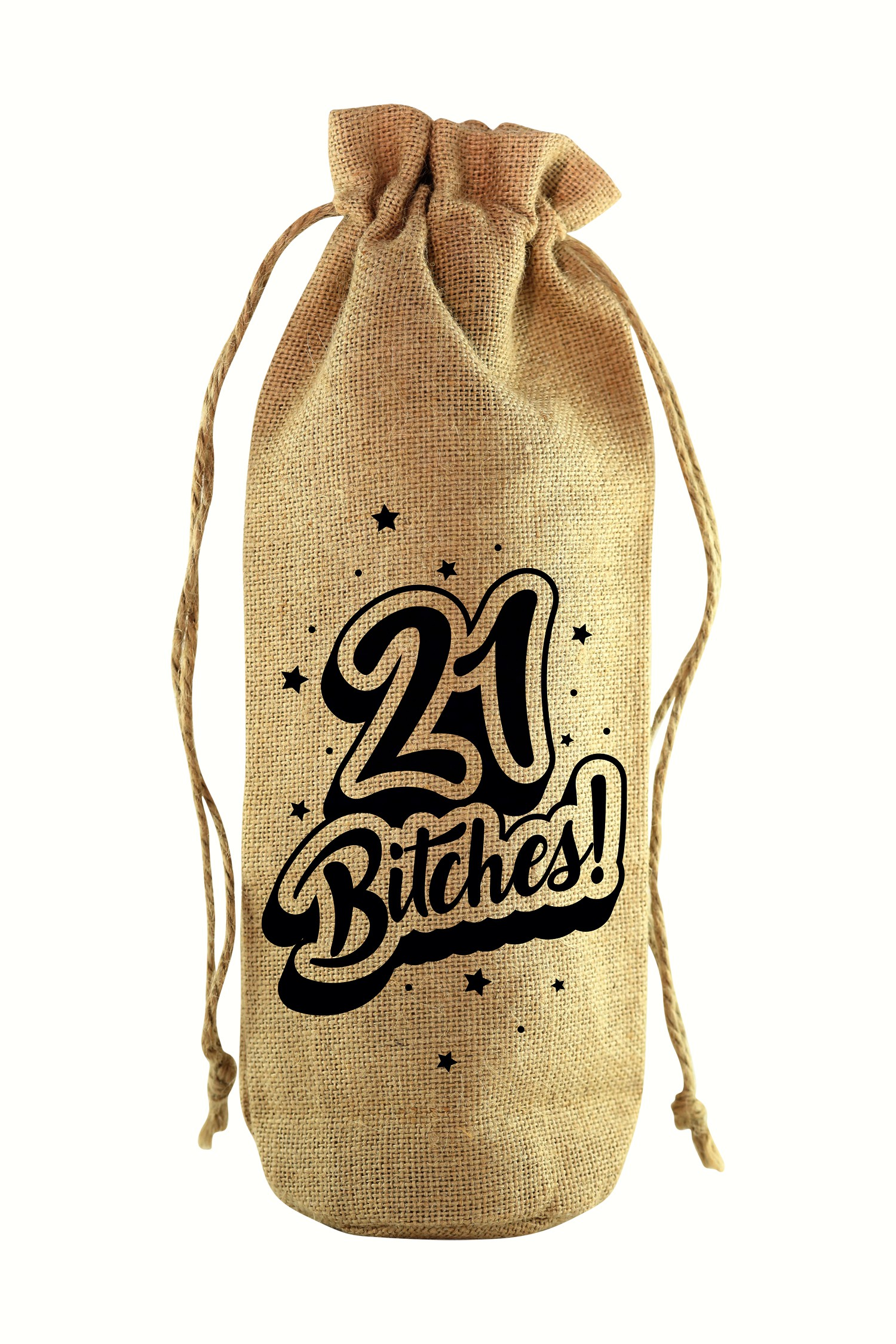 21 Jute Wine Bottle Sack