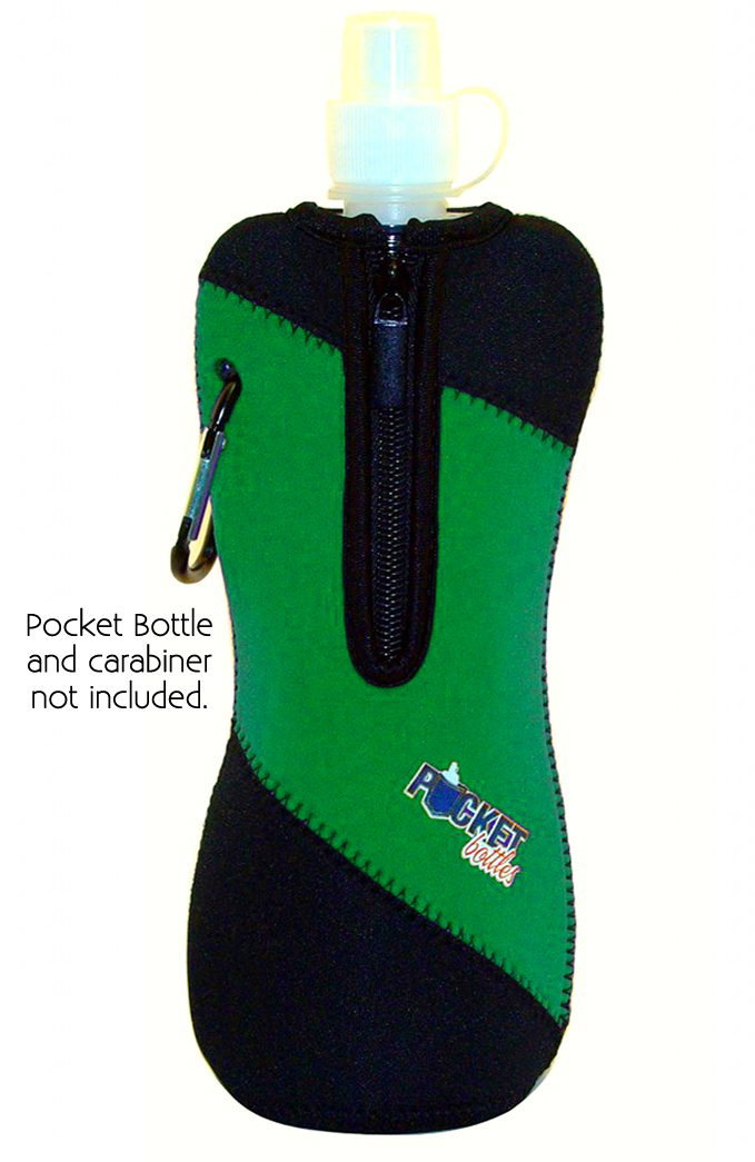 Neoprene Jacket For Pocket Bottles Green/Black