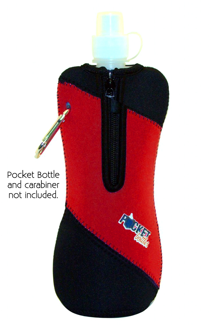 Neoprene Jacket For Pocket Bottles Red/Black