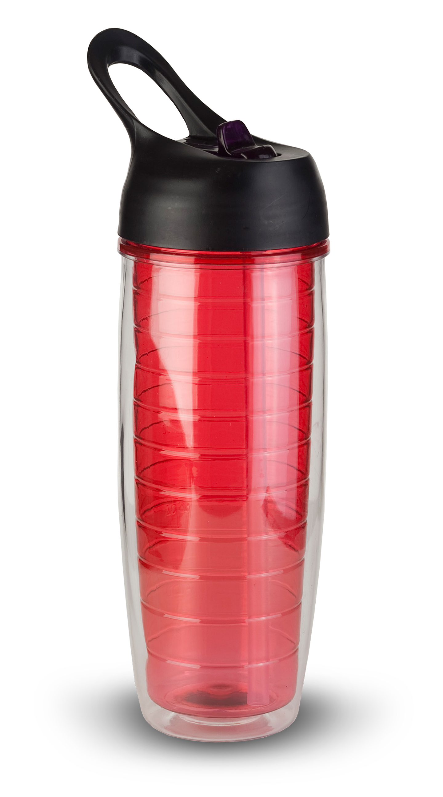 Thirzt 2 Go 20Oz Tritan Double-Walled Insulated Bottle - Red
