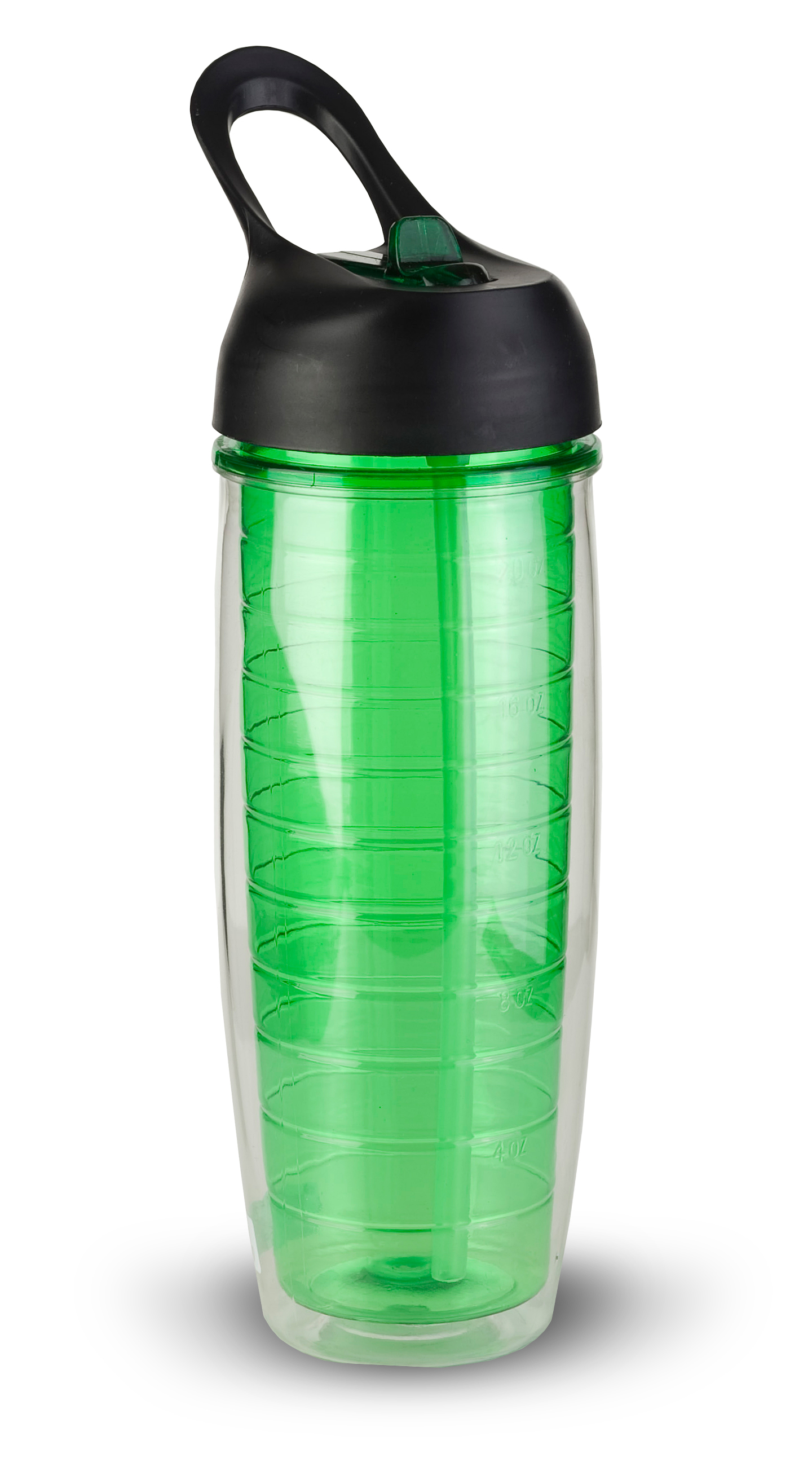 Thirzt 2 Go 20Oz Tritan Double-Walled Insulated Bottle - Green
