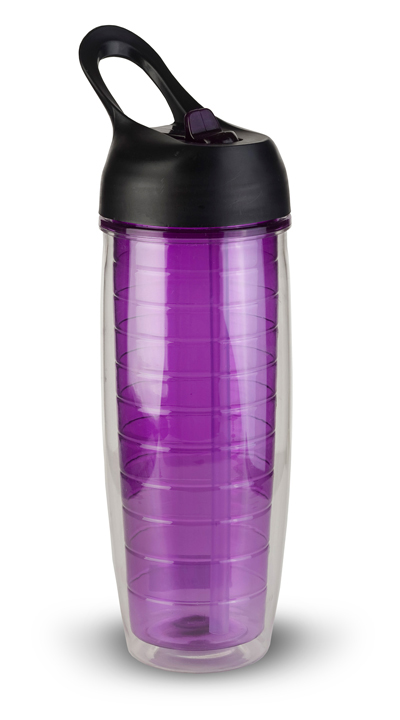 Thirzt 2 Go 20Oz Tritan Double-Walled Insulated Bottle - Purple