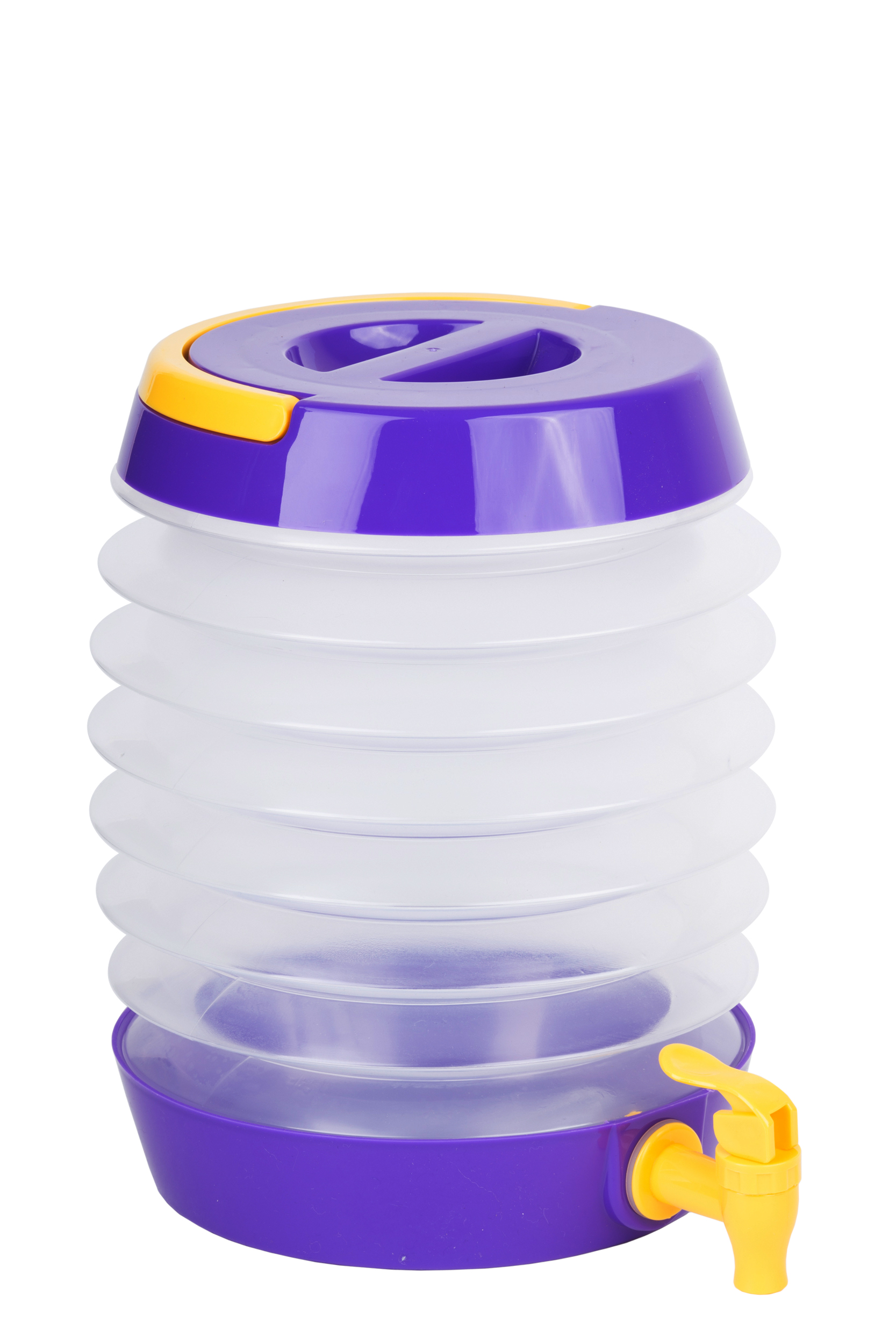 Collapsible Beverage Dispenser Purple/Yellow