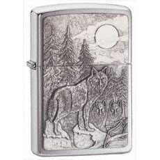 Zippo Timberwolves Emblem      Lighter Brushed Chrome 20855