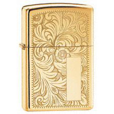 Zippo Venetian Lighter         High Polish Brass 352B