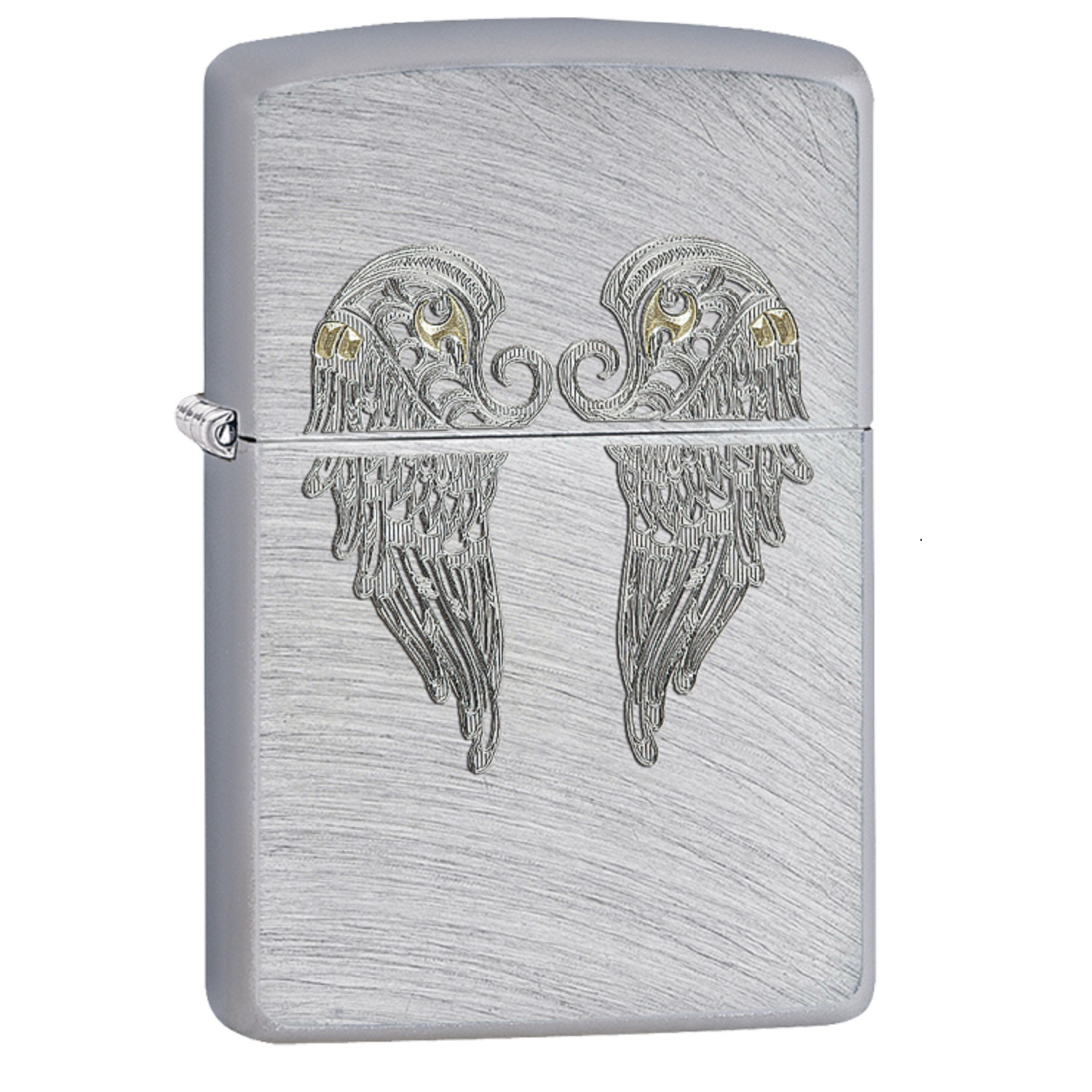 Zippo Angel Wings Pocket Lighter w/ Chrome Arch 29069