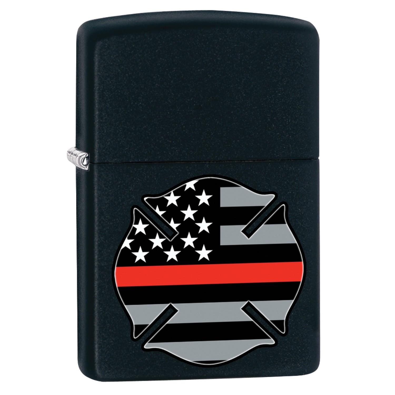 Zippo Flag Red Line Design Lighter