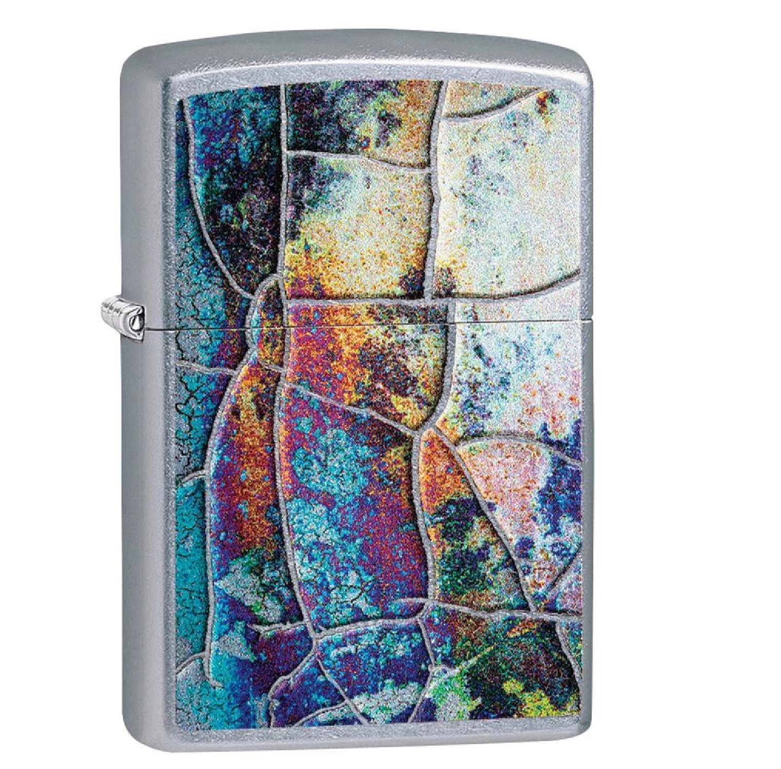 Zippo Street Chrome Rust Patina Design Lighter