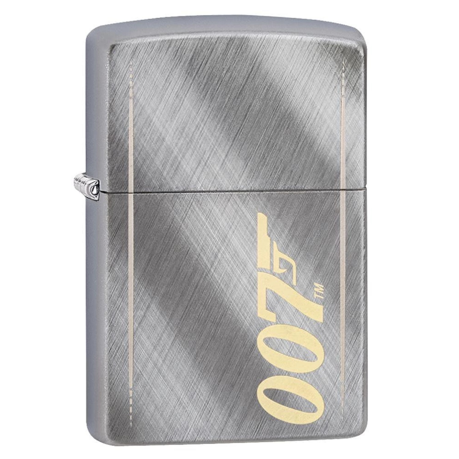Zippo Brushed Chrome James Bond 007 Lighter