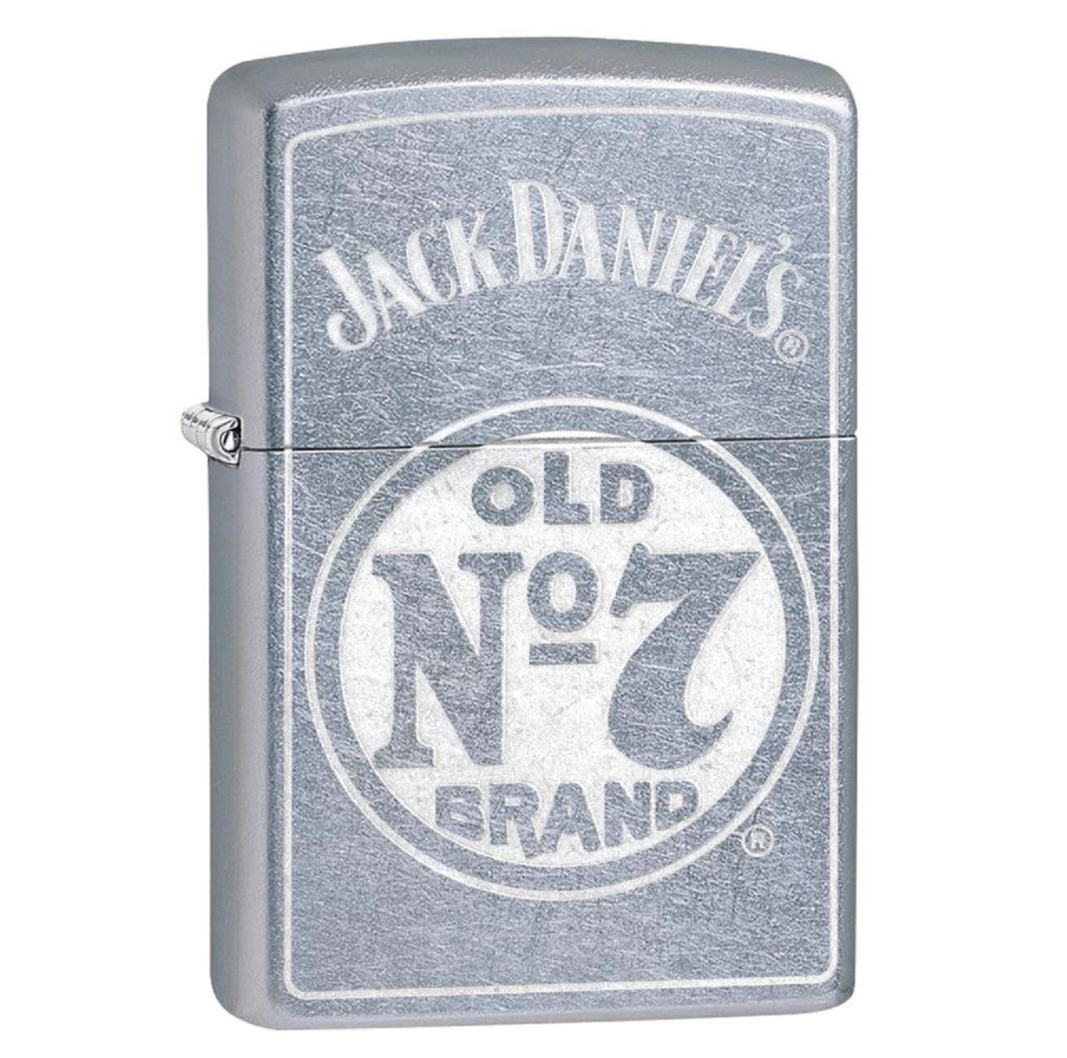 Zippo Street Chrome Jack Daniel No 7 Lighter