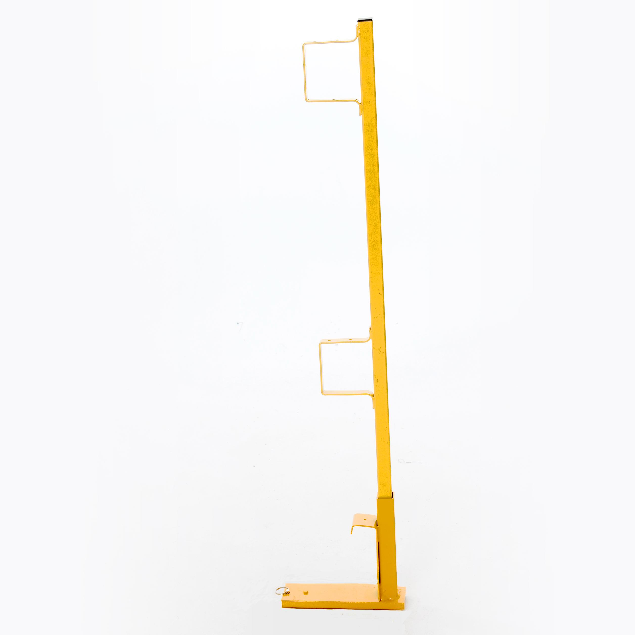 Steel Wall Scaffold Guardrail Post w/Holder For Bracket