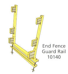 Scaffolding/Staging Bracket - End Fence Guardrail