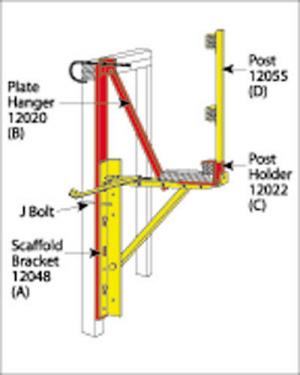 "Scaffolding/Staging Bracket - 54"" 2X8 Corner Bracket"