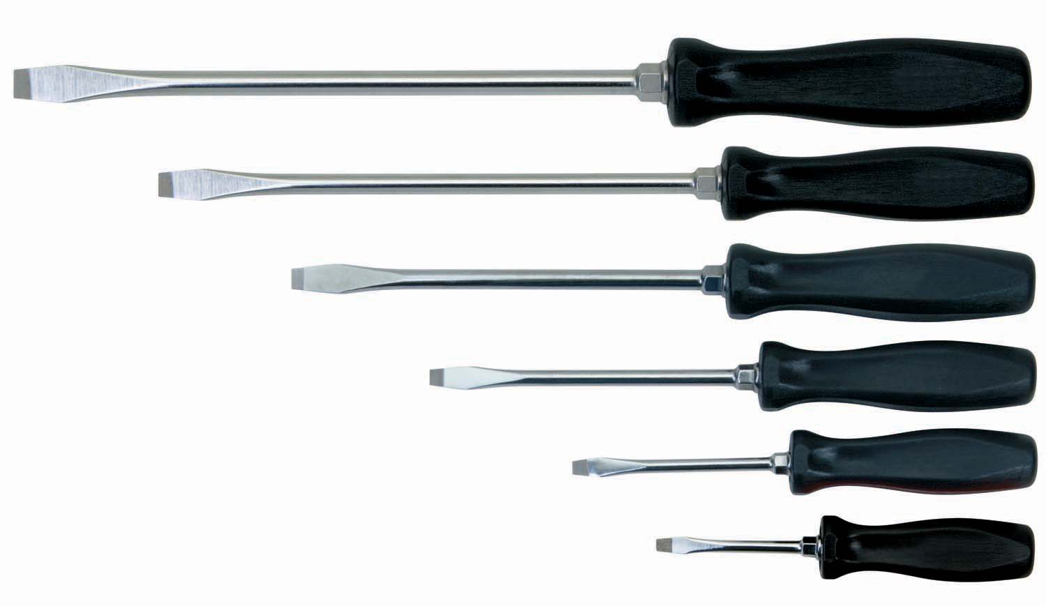 6 Piece Slotted Screwdriver Set