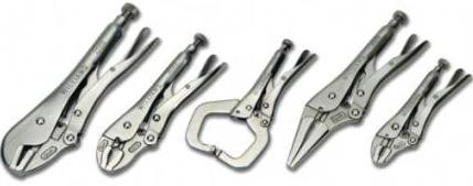 5 Piece Locking Pliers Set