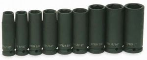 "1/2"" Drive Deep Impact Socket 6-Pt Set 9 Piece"