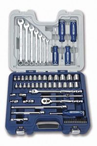 "63 Piece 3/8"" Drive Socket Screwdriver and Wrench Set"