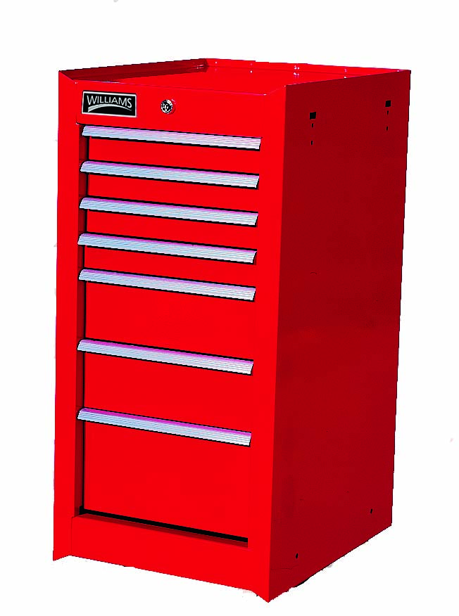 "7 Drawer 30"" Heavy-Duty Sidecab Red"