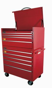 "4 Drawer 42"" Industrial Duty Top Chest Red"
