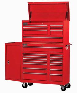 "7 Drawer 42"" Commercial Top Chest Red"