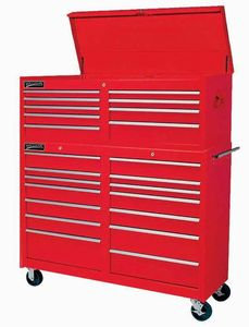 "14 Drawer 53"" Commercial Rollcab Red"