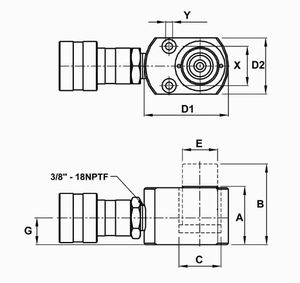5T Single Acting Cylinder 1''