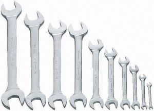 Open End Wrench Set 10 Piece