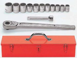 13 Piece Tool Set with TB-49 Metal Tool Box