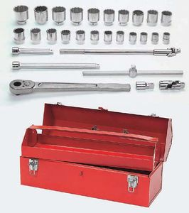 29 Piece Tool Set with TB-6124A Metal Tool Box