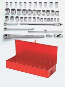 43 Piece Tool Set with TB-12 Metal Tool Box