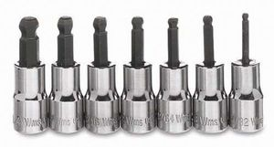 "1/4"" Drive Ball Hex Bit Socket Set 7-Piece"