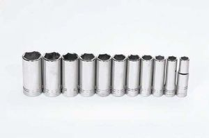"1/2"" Drive Deep Socket Set 6-Pt 11 Piece"