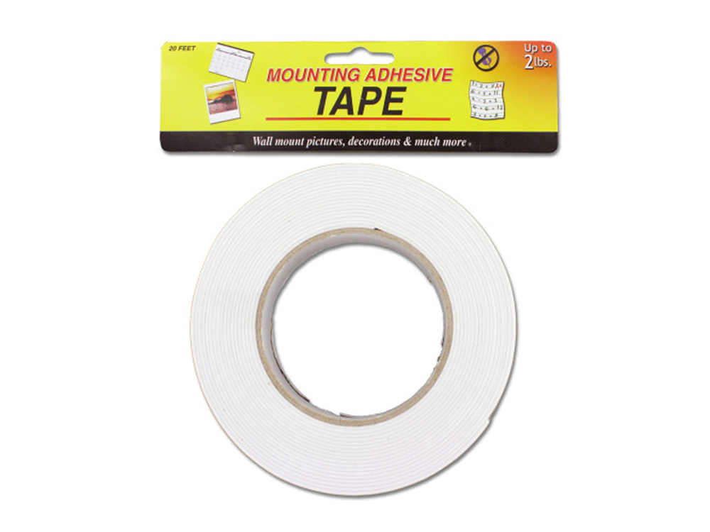 bulk buys Mounting adhesive tape, 20-foot roll Pack of 12