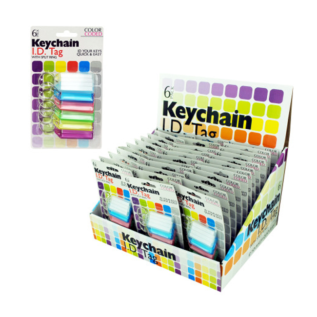 Color coded key chain tags 36 Pack
