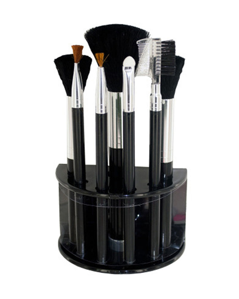 Cosmetic Brush Set With Stand - Pack of 4