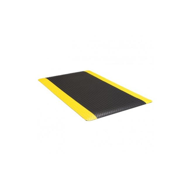 "2' x 3' Diamond Foot 9/16"" Chevron Black/Yellow"