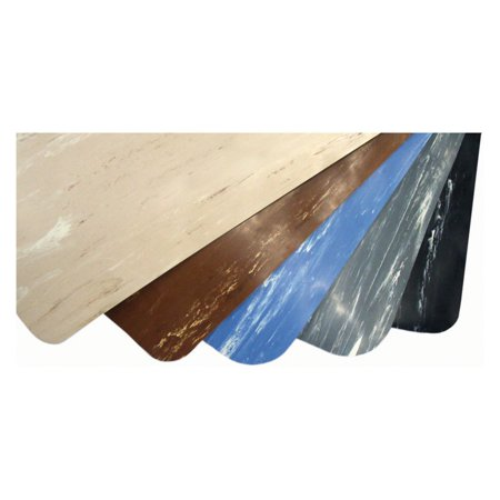 "2' x 3' Marble Foot 1/2"" Rubber Black/White"
