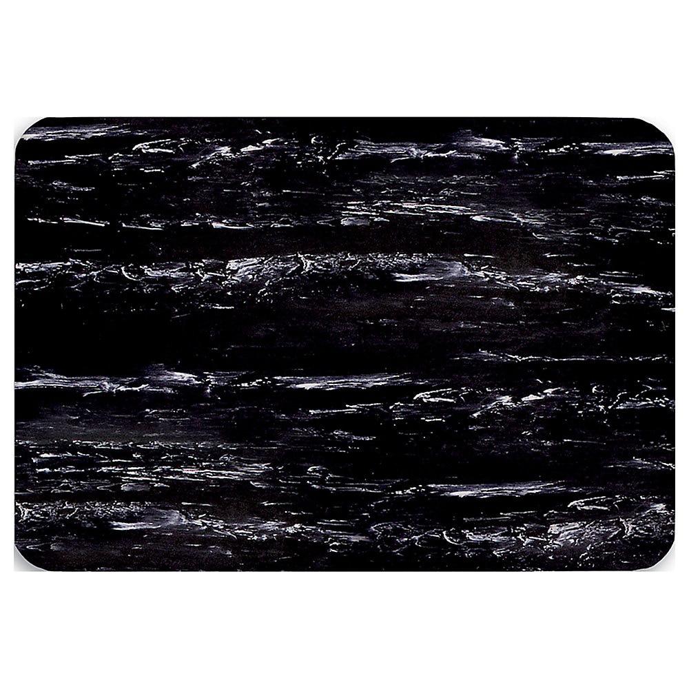 """2' x 3' K-Marble Foot 1/2"""" Vinyl Black/White"""