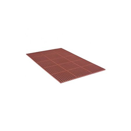 "3' x 5' Tru Tread Mat 7/8"" Grease-Proof Red"