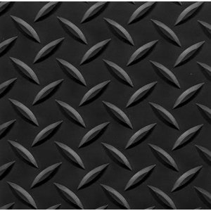"4' x 75' Conductive Diamond Foot Mat 9/16"" Black"